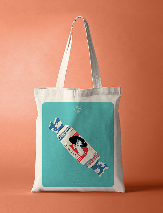 Beloved Little White Lamb Sweet {Tote Bag}