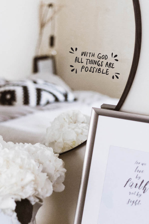 All Things Are Possible {Mirror Decal Stickers}