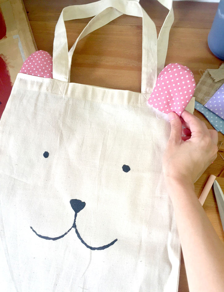 The Commandment Co Workshop x Gewwybeans x Wheniwasfour - Bear Cat Dog Tote Bags with Ears