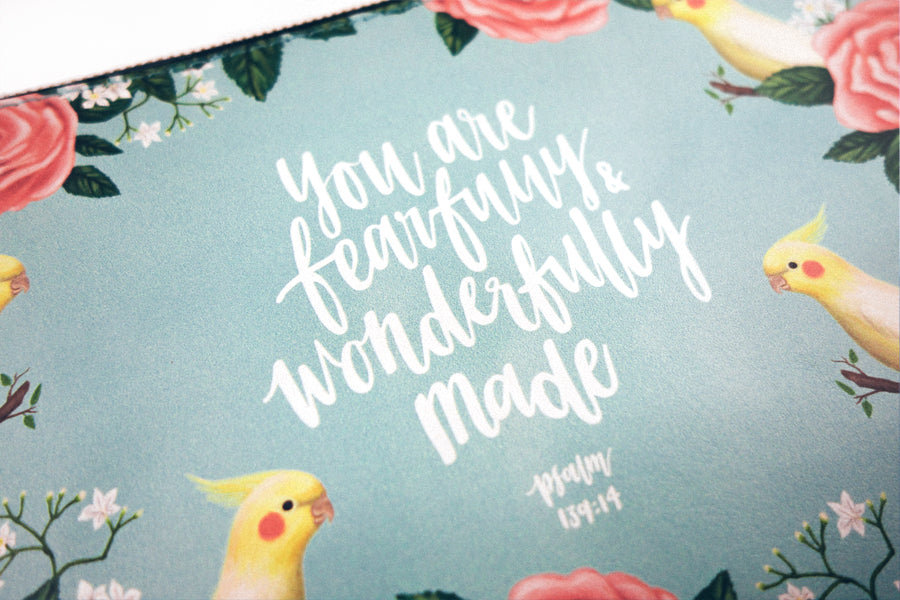 You Are Fearfully & Wonderfully Made {Pouch}
