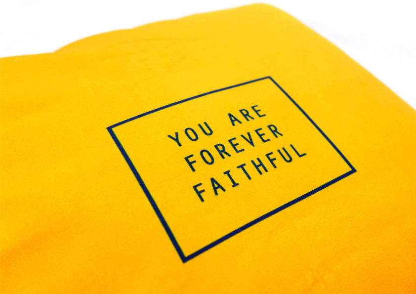 HeyNewDay x the commandment co forever faithful soft velvet cushion cover