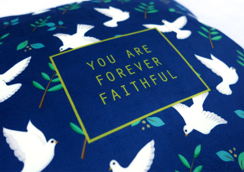 HeyNewDay x the commandment co forever faithful cushion cover