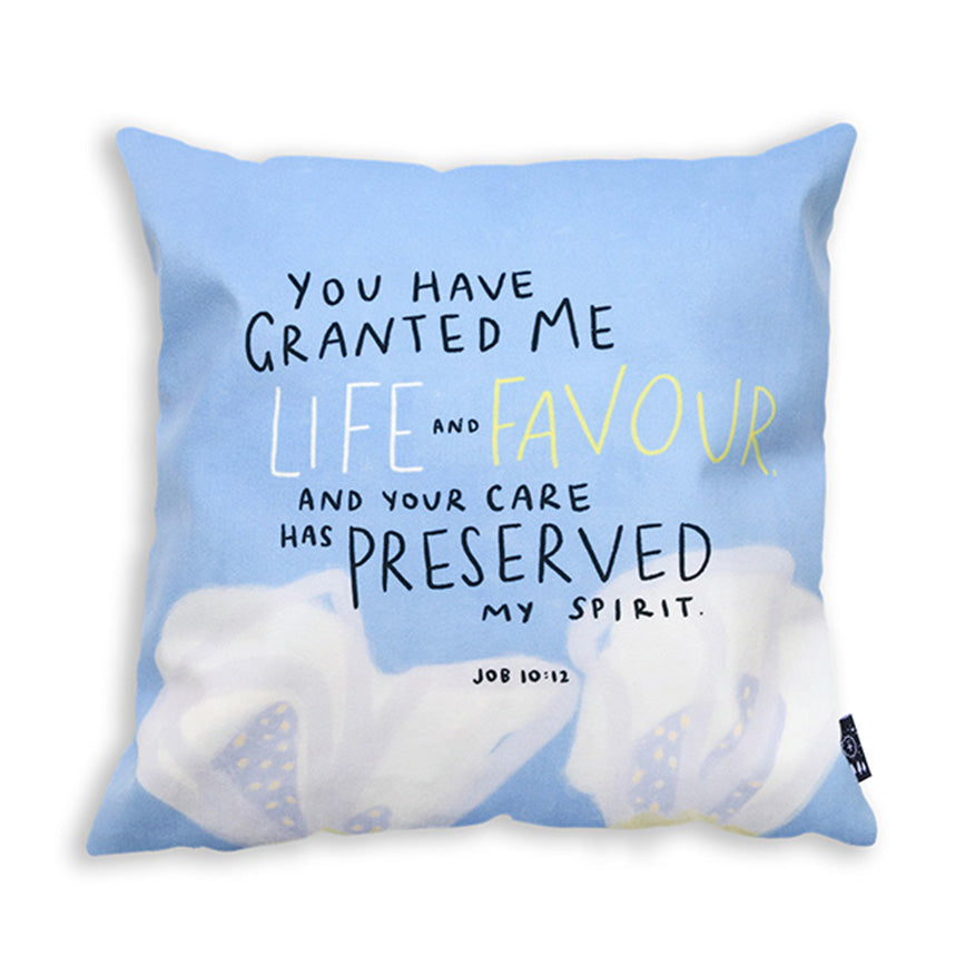 You Have Granted Me Life And Favour {Cushion Cover}