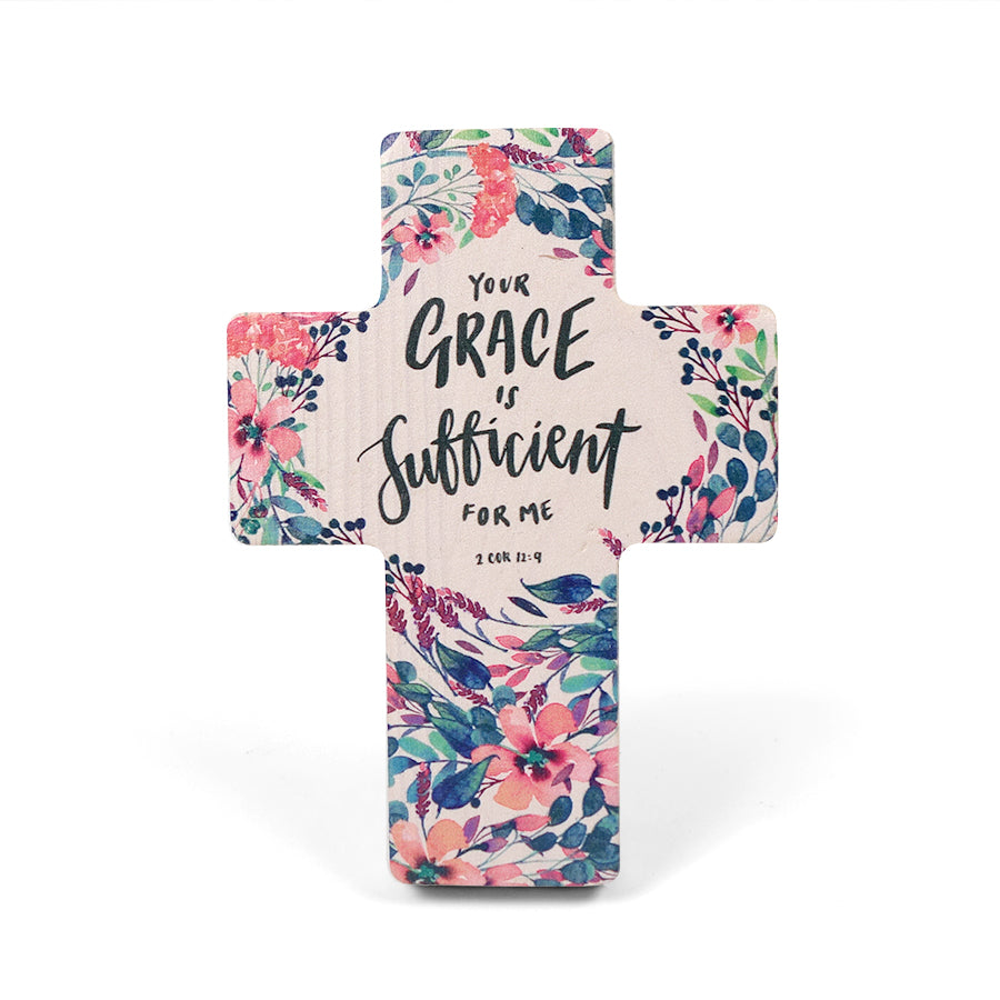 Your grace is sufficient for me wooden cross makes great home decor ideas and adds a splash of colour and inspiration to your home