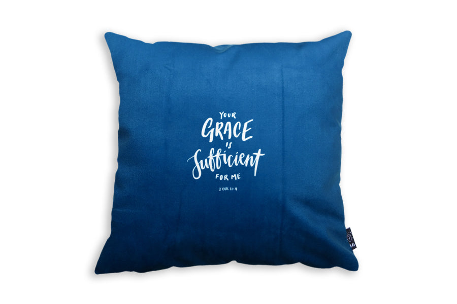 Your grace is sufficient for me cushion cover back