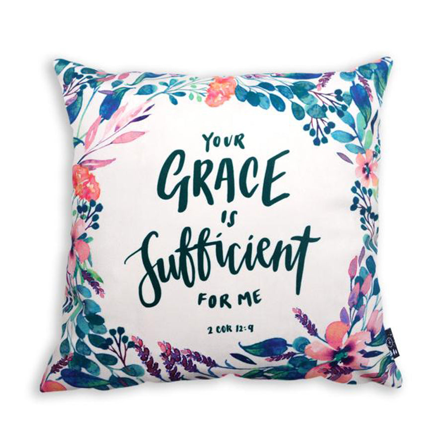 Christian pillow design Your Grace is sufficient for me