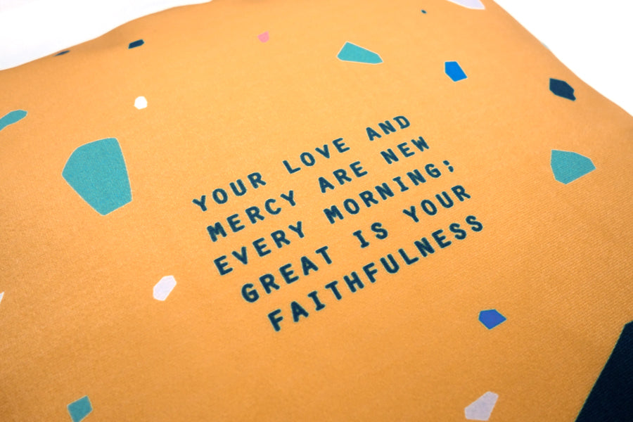 Great Is Your Faithfulness {Cushion Cover}