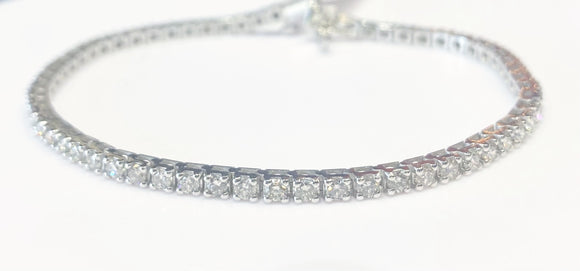 3.00ct Total Weight Diamond Tennis Bracelet