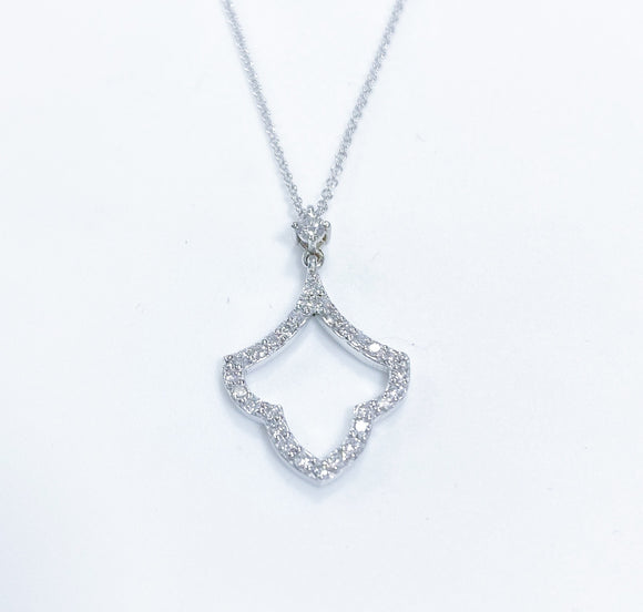 Beautifully designed custom diamond pendant