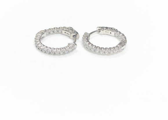 0.52ct. Total Weight Hoop Earrings