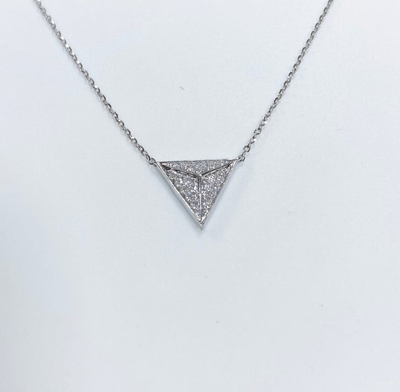 Diamond triangle pendant necklace