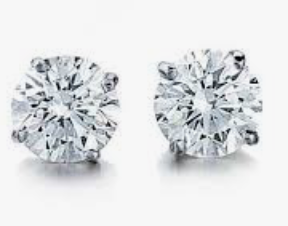 1/2ct Total Weight Round Diamond Earrings