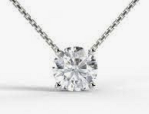 1/2ct Total Weight Round Diamond Pendant