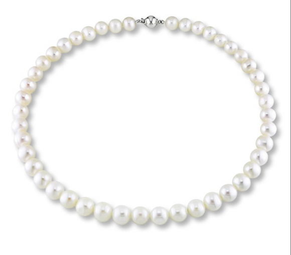 18in 8mm round pearl necklace