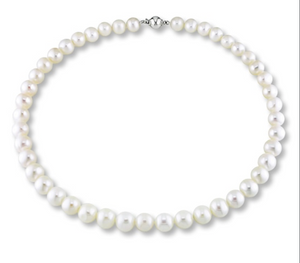 18in 7mm round pearl necklace