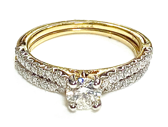 Diamond ring and diamond band