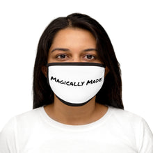 Load image into Gallery viewer, Magically Made White Mixed-Fabric Face Mask