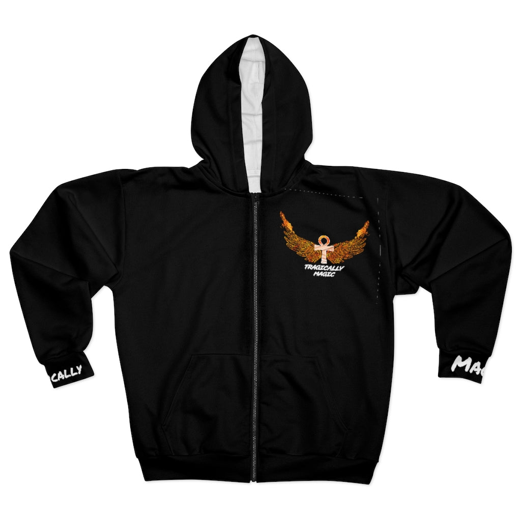 Tragically Magic Phoenix Ankh Unisex Zip Hoodie