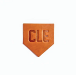 CLE Leather Homeplate Coaster Set