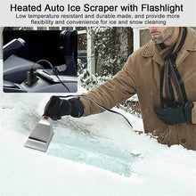Load image into Gallery viewer, SL® Heated Electric Windshield Ice Scraper W/Flashlight Snow Melter