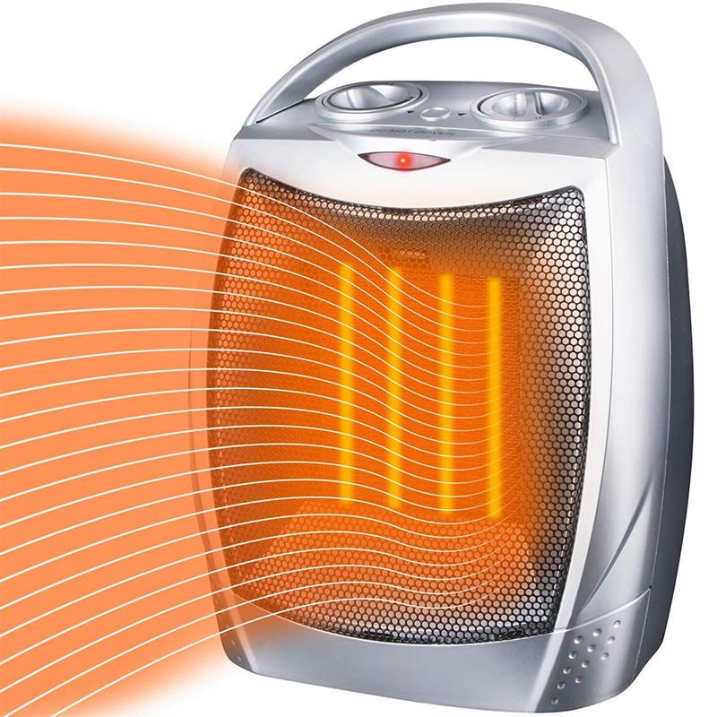 Portable Electric Room Heater with Tip-Over and Overheat Protection