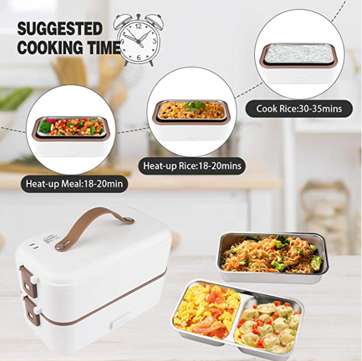 2 Layers Steamer Lunch Box - 800ML