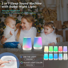 Load image into Gallery viewer, Smarter Life White Noise Machine with Night Light (28 None-Looping Sounds)