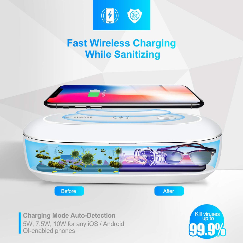 UV Phone Sanitizer Box with Fast Wireless Charger and Aromatherapy Function