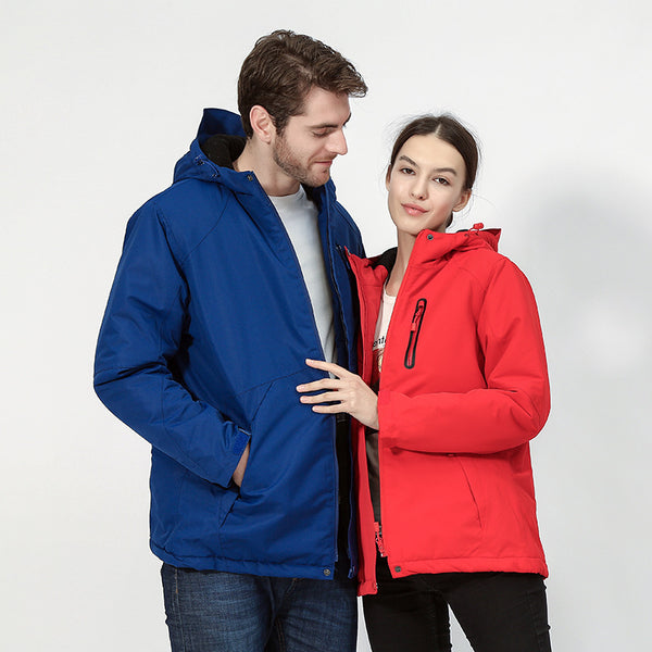SL USB Rechargeable Heated Jacket Men Women Waterproof Couple Jacket