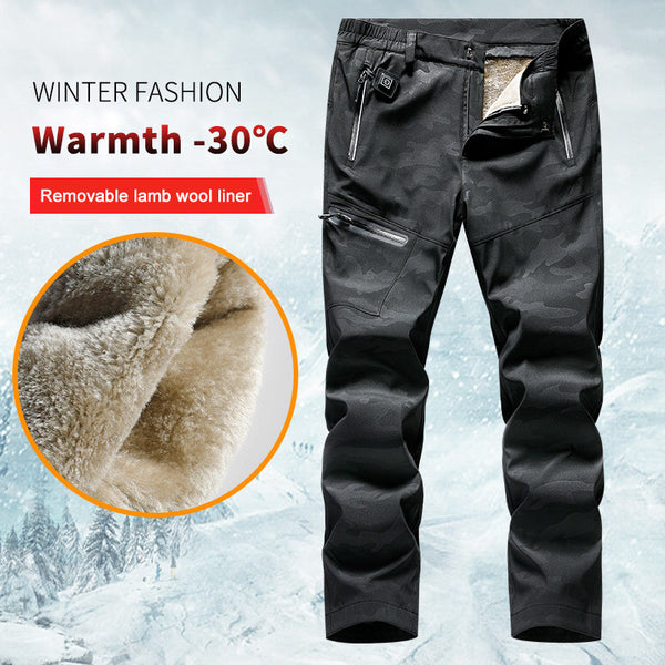 Smart Electric Heating Pants For Men And Women USB Charging Heating Pants Winter Plus Velvet Thickening Detachable(No Power Bank)