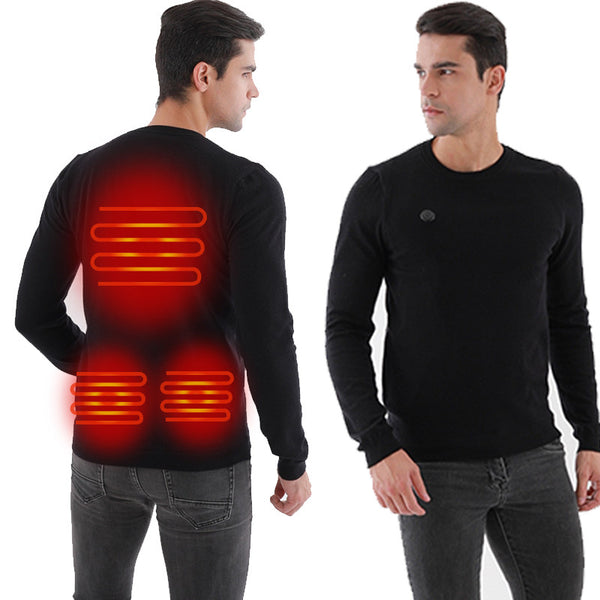 SL® Winter USB Heating Sweater Men Heated Warm
