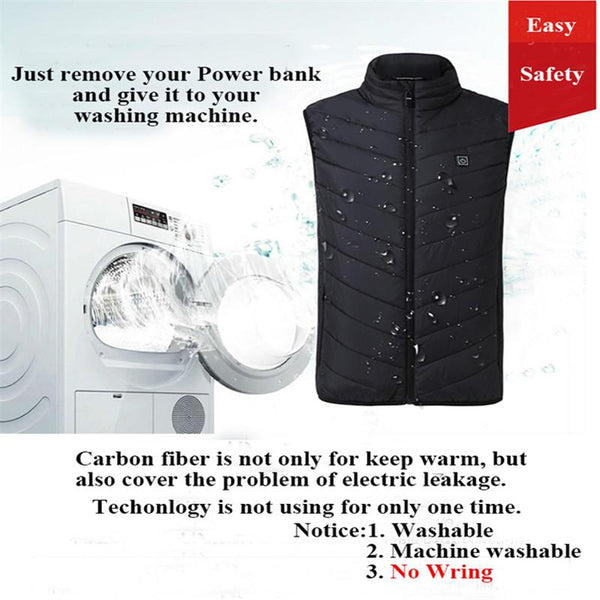 SL 9 Heating Zones Body Rechargeable Warm Vest(No Power Bank)