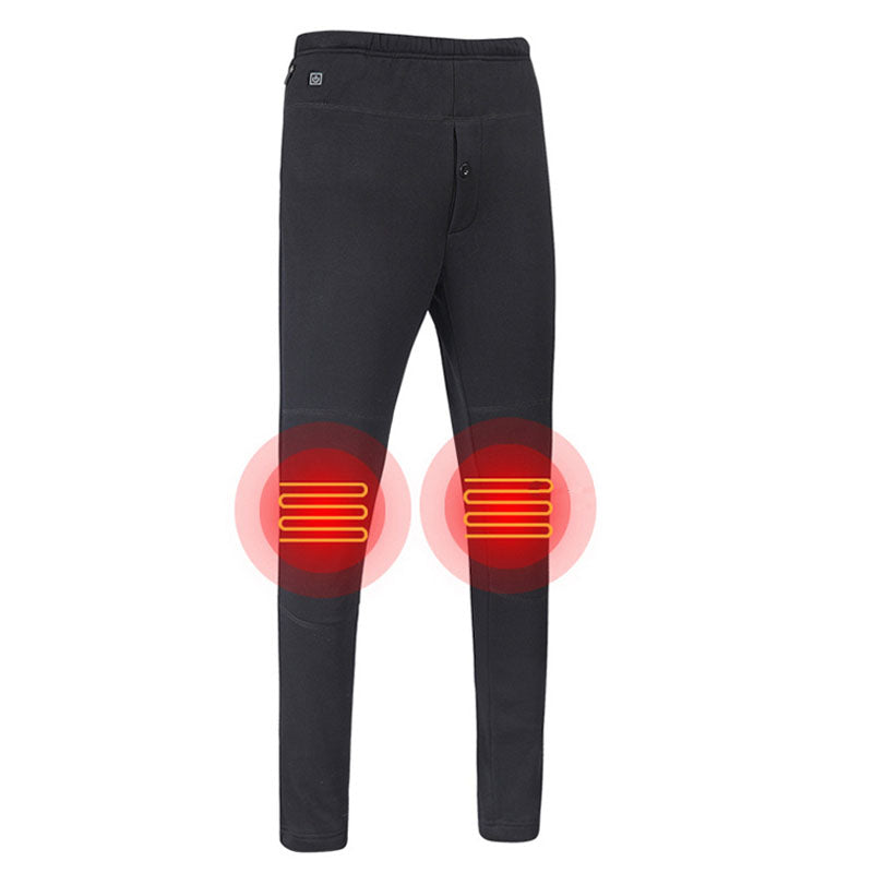 Heated Pants for Men Women Electric USB Smart Thermostat Heating Pants for Outdoor Cycling/Skiing(Without Power Bank)