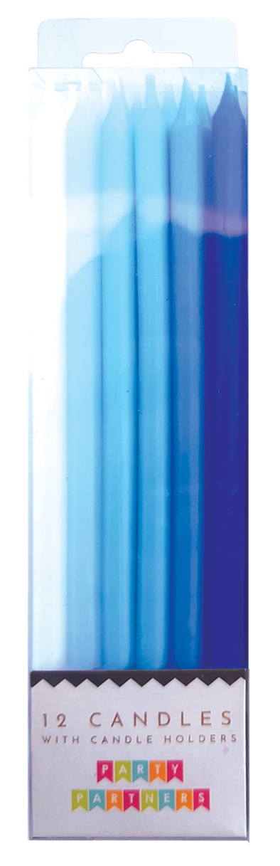 Blue Gradient 12 Candle Set