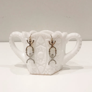 Silver & Gold Acrobat Earrings