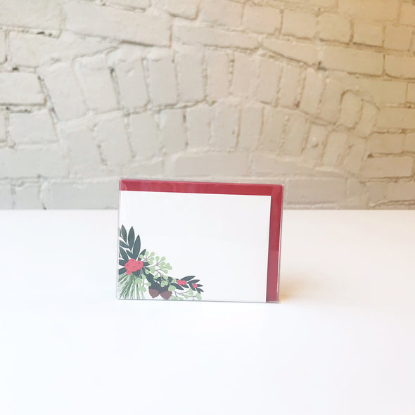 Holiday Sprig of Holly Enclosure Cards Set