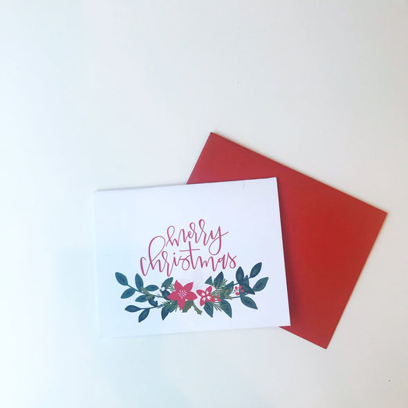 Merry Christmas Garland Greeting Card