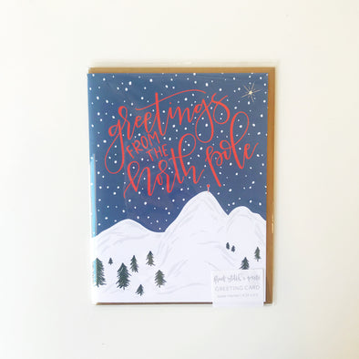 Greetings from the North Pole Greeting Card
