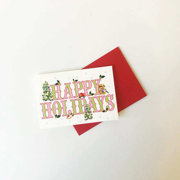 Happy Holidays Enclosure Note Card