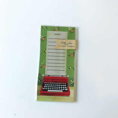 Typewriter Note Pad