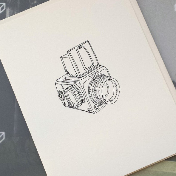 Hasselblad Camera Illustration Note Card