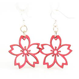 Cut-Out Cherry Blossom Earrings