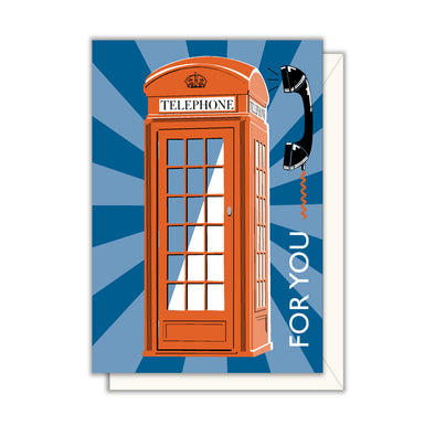 For You Phone Booth Enclosure Note Card