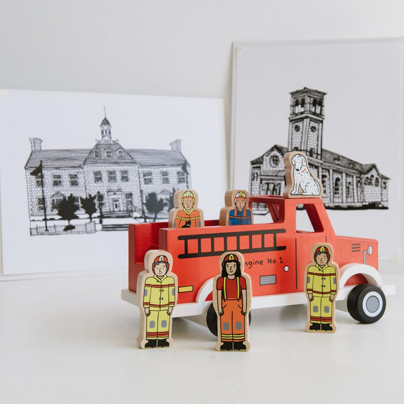 Jack Rabbit To The Rescue Magnetic Fire Truck
