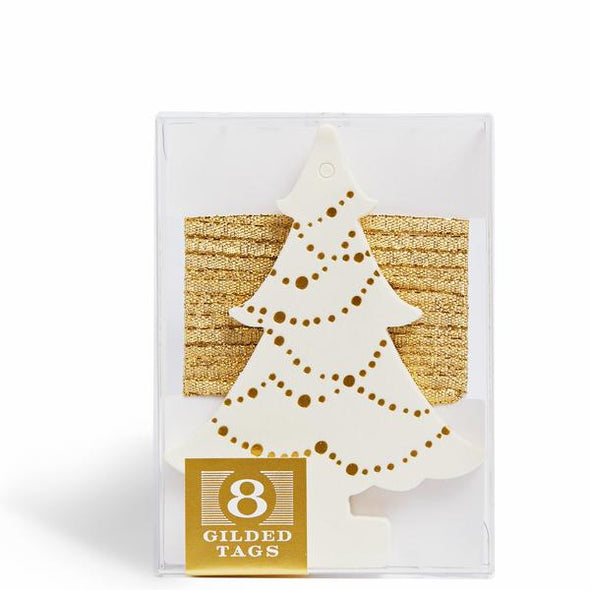 Gilded Holiday Tree Gift Tags