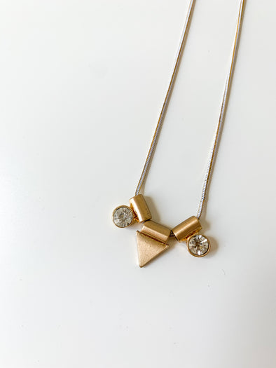 Triangle Jewel Necklace