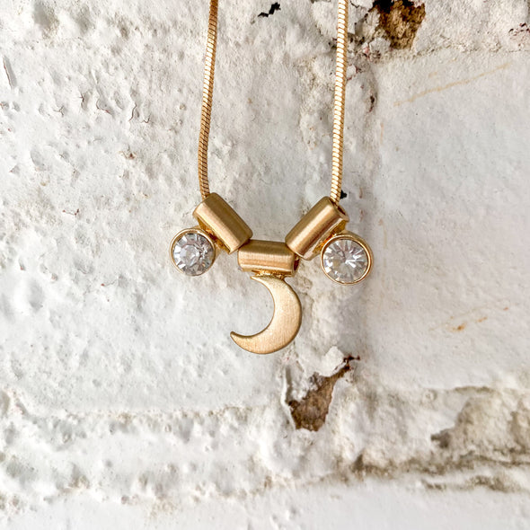 Moon Jewel Necklace in Gold