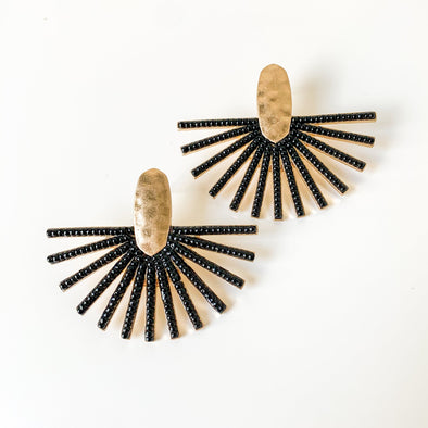 Oversized Sunburst Stud Earrings