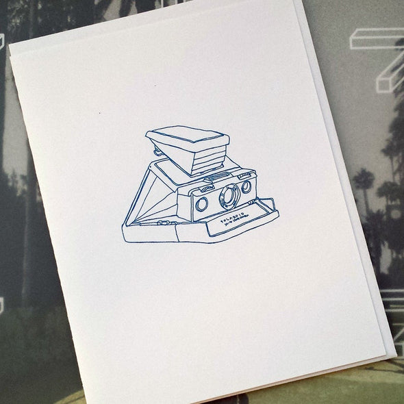Polaroid SX-70 Camera Illustration Note Card