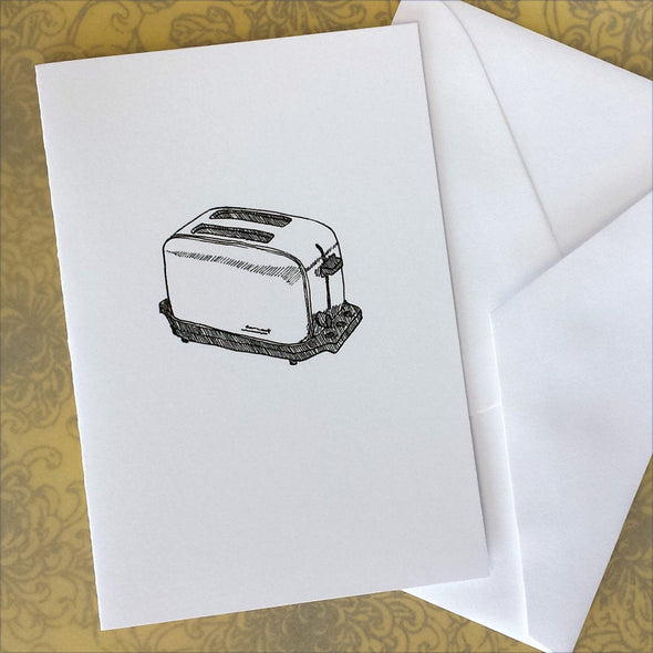 Toaster Illustration Note Card